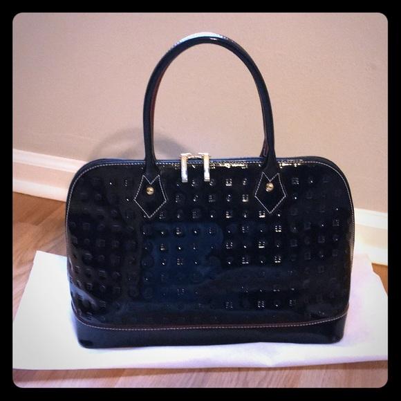 6a5035a59677 Arcadia Handbags - Arcadia Black Patent Leather Handbag